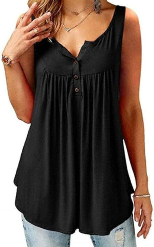 Femme Gilet Robe T-Shirt Printemps-/ét/é Chic Enceinte Jupe Courte Mode Casual Chemise Sweat Tee sans Manches Grande Taille S-6XL