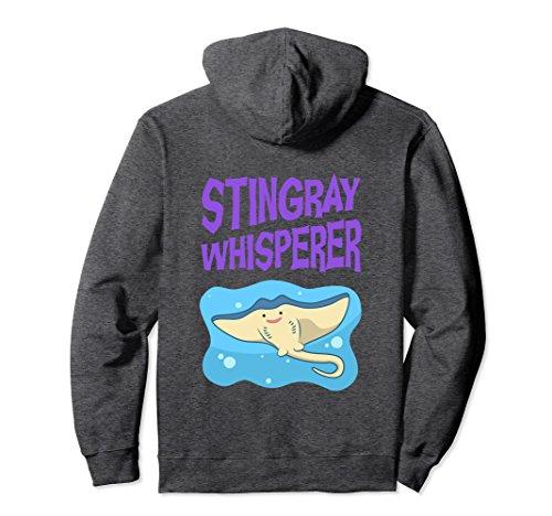 Stingray Animal Costume (Unisex Funny Stingray Whisperer Hoodie Sea Animal Saying Meme Quote Large Dark Heather)