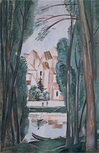 [High Quality Polyster Canvas ,the High Definition Art Decorative Prints On Canvas Of Oil Painting 'Landscape With A Boat At The Bank,1915 By Andre Derain', 8x12 Inch / 20x31 Cm Is Best For Bar Artwork And Home Artwork And Gifts] (Baby Dormouse Costume)