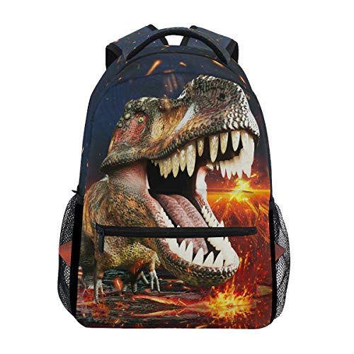 ZOEO Boys Dinosaur Backpacks 3D T-Rex 3th 4th 5th Grade School Bookbags Travel Laptop Daypack Bag Purse for Teens (D Trex)