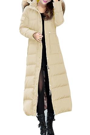 XIAOLV88 Women's Fashion Slim Duck Jacket Long Down Coat at Amazon ...