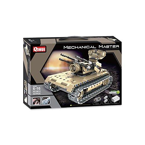 (Qihui Tech Bricks R/C Anti-Aircraft Tank Kit R/C Vehicle)