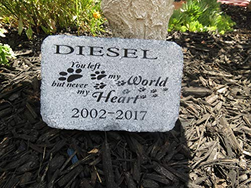 - weewen Pet Memorial Personalized Pet Loss Garden in Memory Sympathy Grave Marker Dog Animals Grief Keepsake Death Gift Door Hanger Sign Home Decor Plaque