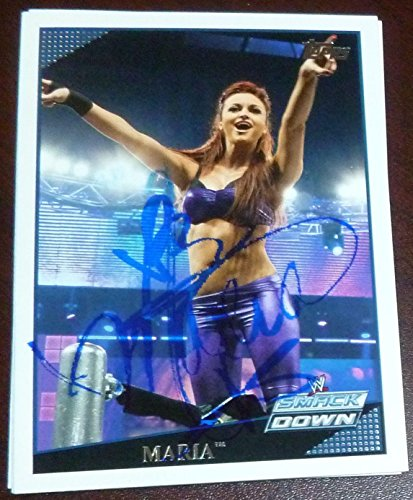 Maria Kanellis Signed 2009 Topps Card #4 Autograph Model WWE Diva ROH Playboy - Autographed Wrestling Cards from Sports Memorabilia