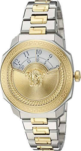 Versace Women's 'Dylos Icon' Swiss Quartz Stainless Steel Casual Watch, Color:Two Tone (Model: VQU040015)