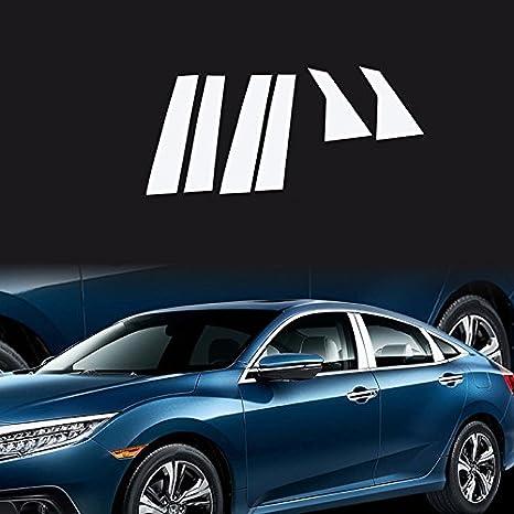 justmos para Honda Civic 10th Gen 4dr cromado accesorios borde funda: Amazon.es: Coche y moto