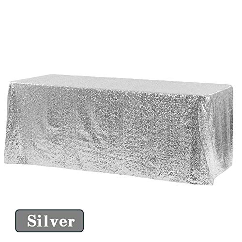 RubyShopUU Shimmer Sparkly Luxury Sequin Tablecloth Wedding Party Decoration Table Cover slipcovers Tablecloths Christmas (Christmas Kohls Tablecloths)