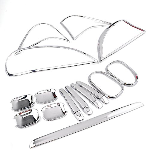 Full Set Of Exterior Chrome Trim Cover Door Handle Cover Handle Bowl