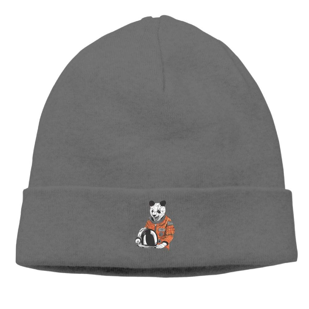 nordic runes Crazy Astronaut Panda Beanie Hat Winter Warm Knit Skull Cap for Mens//Womens
