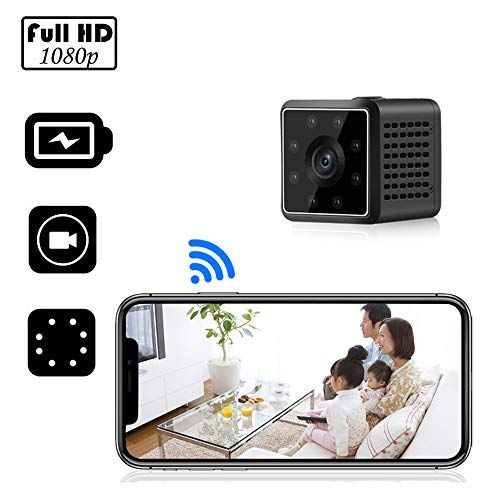 XIXCAMLOOK Mini Hidden Camera,Closeye Full HD 1080P Wireless WiFi Mini Cam/Small Indoor Home Security Camera/Nanny Camera with Night Vision and Motion Detection