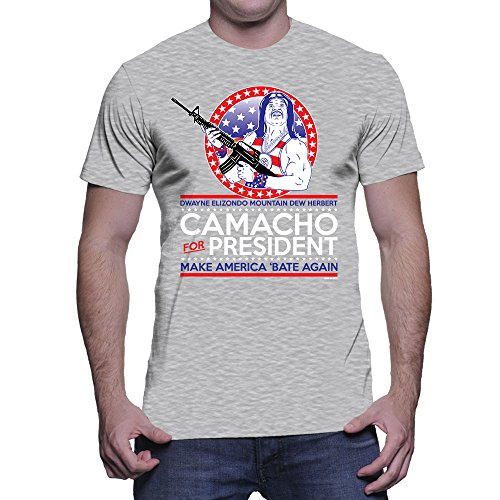 Mens Camacho For President - Make America Great Again T-shirt (Large, LIGHT GRAY)