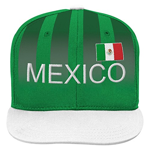 - Outerstuff World Cup Soccer Mexico Boys Jersey Hook Flag Snapback with Adjustable Snap Closure, Dark Green, One Size