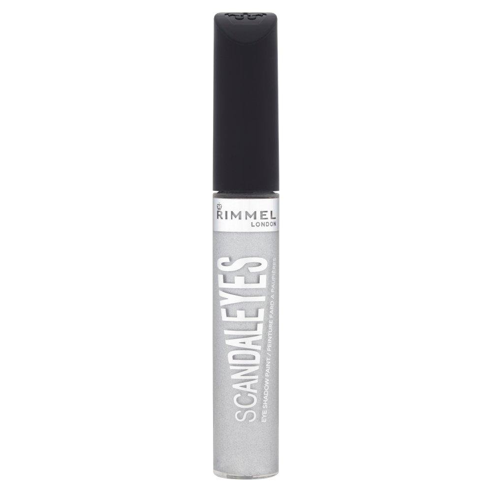 Rimmel ScandalEyes Eyeshadow Paint With Wand 7ml-011 Mercury Silver