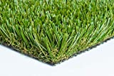 103 oz Thick Heavy Commercial Grade Artificial Synthetic Grass Turf Dog Drainage Holes Many Sizes Best Price Guarantee! (3' x 15' = 45 Sq Ft.)