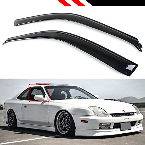 Cuztom Tuning Fits 1997-2001 5th Generation Honda Prelude JDM Smoke Rain Guard Deflector Window Visor