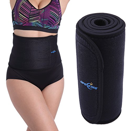 Opecking Waist Trimmer Belt-Postpartum Recoery Support Belt Post Pregnancy After Birth Belly,Weight Loss Ab Belt,Sweat Enhancer Exercise Adjustable Wrap for Men & Women - One Size Fits up to 39 Inches