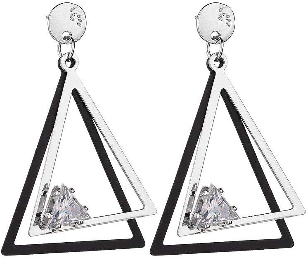 FCQCWXAM Pendientes Versátiles Para Mujer Joyas Bicolor Colgante De Cristal Simple Versátil