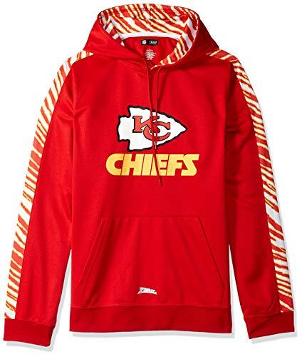 Zubaz Men's Kansas City Chiefs, Pullover Hood, Large ()