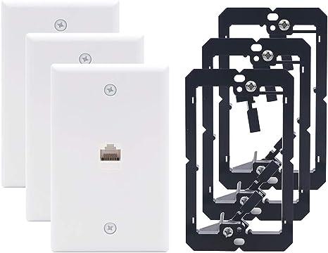 Speaker Wall Plate Keystone Jack Dual Speaker Female to Female Toolless 2-PACK