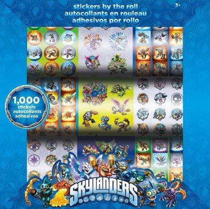 Skylanders Stickers by the Roll - 1000 Stickers -