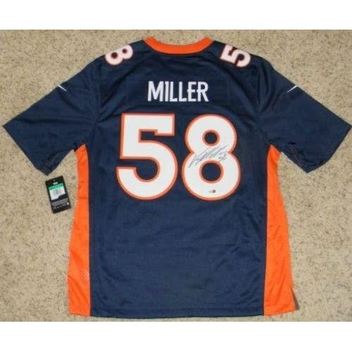 competitive price 51b04 2e84a 85%OFF Von Miller Autographed Jersey - #58 Nike Limited ...