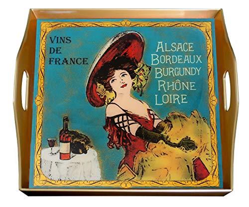 Square serving tray - Vins de France