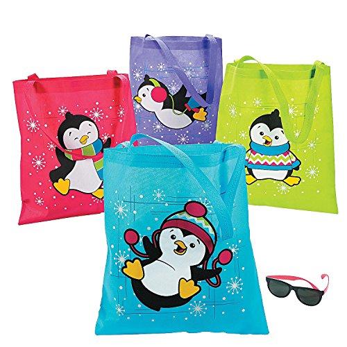 Colorful Penguin Tote Bags (12 Totes Per Unit) - HUGE 16 1/2