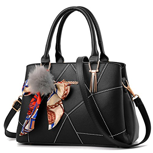 Women Ladies PU Leather Top Handle Bag - 7