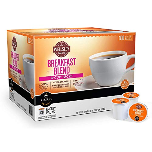 Wellsley Farms Breakfast Blend Coffee K-Cup Pods, 100 ct.