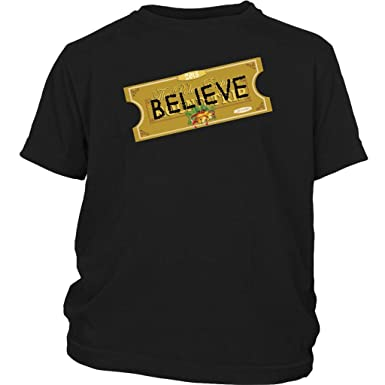 cf7bfec97eed4 Amazon.com: World Of Tees Believe Express Ticket Santa 2018 Shirt ...