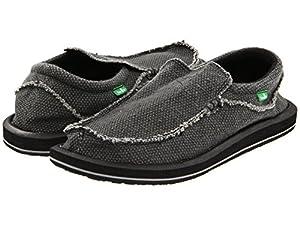 Sanuk Men's Chiba Sidewalk Surfer Shoe (12 D(M) US, (Black))