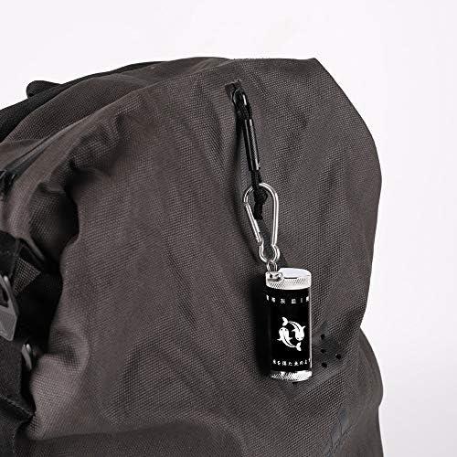 [スポンサー プロダクト]携帯灰皿 車 灰皿 ふた付き カラビナ 軽量 屋外用 ブラック レッド ブルー