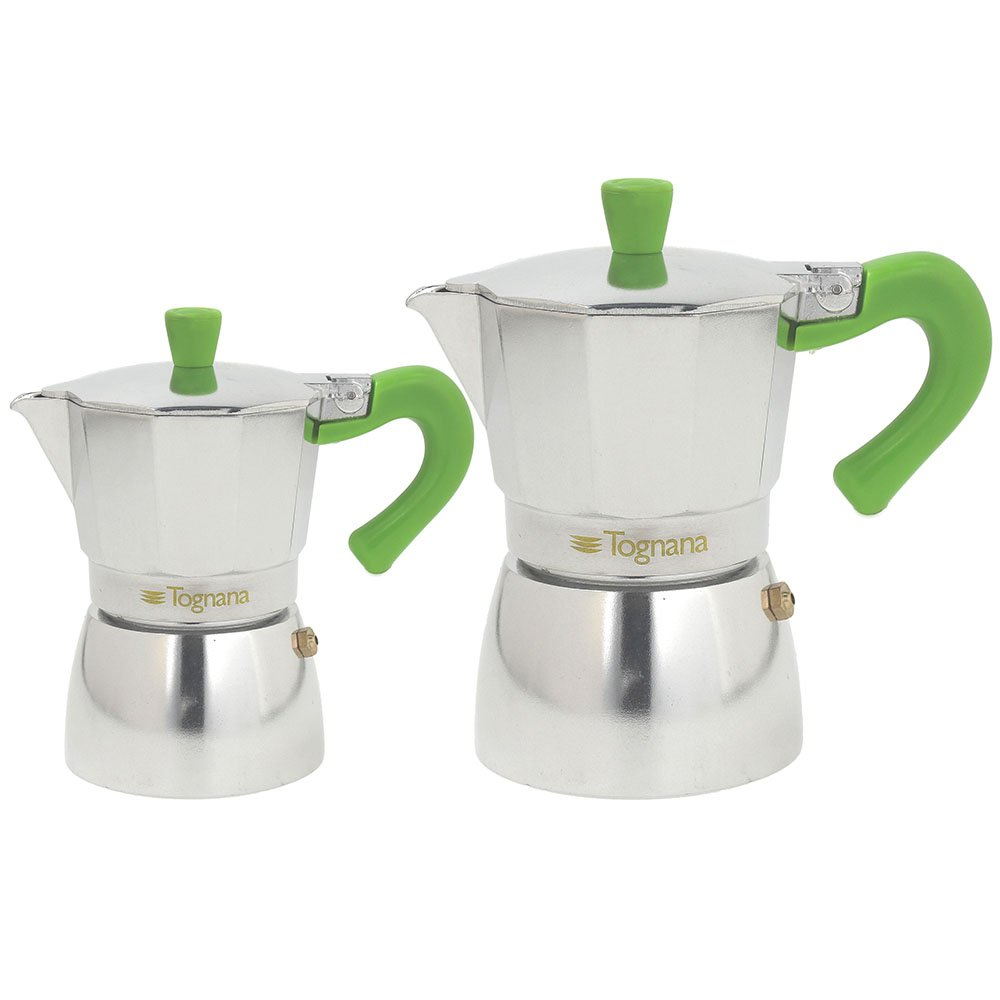 Alluminio Tognana Coffee Time Set 2 Caffettiere Marrone