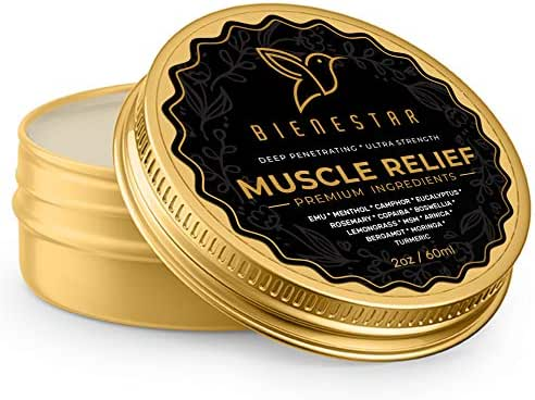 Bienestar Muscle Relief Balm for Arthritis - Emu, Arnica, MSM, Turmeric - All Natural, Ultra Strength, Fast Acting, Long Lasting, Warming Topical Analgesic - Pain Reliever for Inflammation, Joint Pain