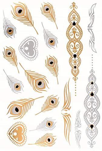 Metálico Tatuaje 145x205mm 502: Amazon.es: Salud y cuidado personal