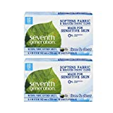Seventh Generation Fabric Softener Sheets, Free & Clear, 80 ct (2 Pack)