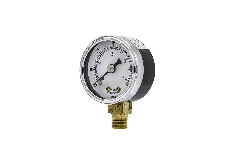 """Air Pressure Gauge brass connection 0-60 PSI 1.5/"""" 1//8/""""NPT"""