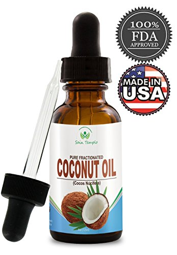 Fractionated Liquid Coconut Oil for Skin- 4 Oz Bottled in the USA- Best Carrier Oil for Aromatherapy, Essential Oil & Excellent As a Massage Oil with Numerous Skin, Beauty & Hair Benefits