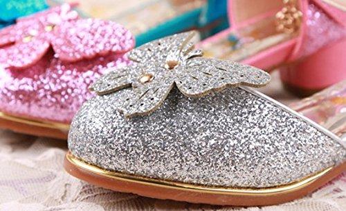OPSUN Mädchen Sandalen Prinzessin Kinderschuhe Sandalen Sandaletten Kleinkinder Halbschuhe Sandalette Ballerinas Silber