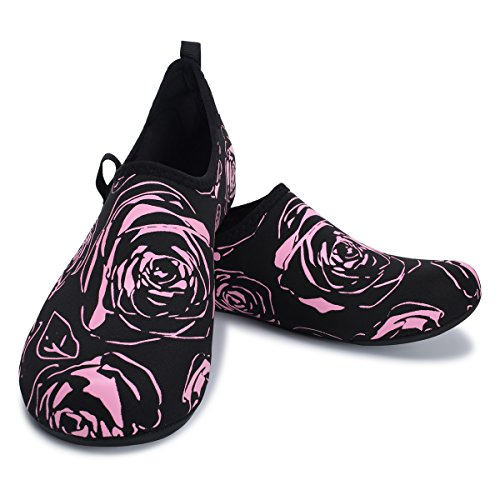 Shoes Swim Pink Aqua Shoes Lightweight Water Barefoot Beach Mens FEETCITY Womens Yoga for Flower BEq4w8
