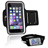 Revere Sport Armband + Running Belt (2 Item Bundle) for iPhone 6/5/4 Samsung S7/S6/S5. Professional Sweat Resistant - Night Reflective - No Bounce Exercise Set