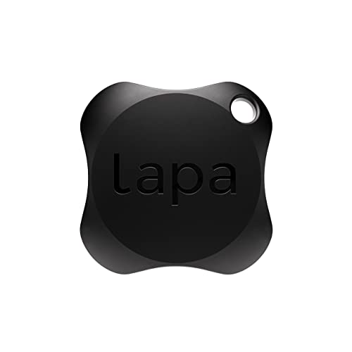 Lapa 2 Bluetooth Tracker - Find Keys, Wallet, Bag, Pets, and even your Smartphone (1-Pack, Black)