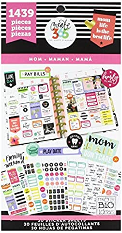 me & my BIG ideas PPSV-06 Create 365 The Happy Planner Sticker Value Pack Planner, Mom Life, 1439 (A Sticker)