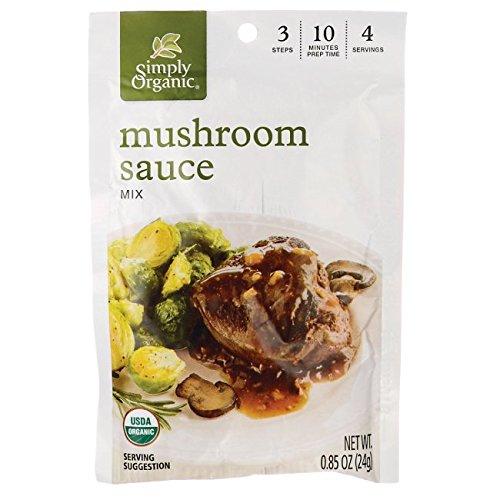 Simply Organic Organic Season Mix - Mushroom Sauce - 0.85 Ounces (Sauce Mushroom Organic)