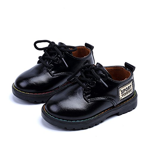 Image of COMFY KIDS Toddler Boys Big Head of Shoes Casual Shoes Flat Uniform Pure Color Dress Shoe(Toddler/Little Kids)