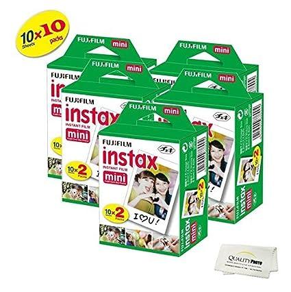 Fujifilm INSTAX Mini Instant Film 4 Pack 40 SHEETS (White) For Fujifilm Mini 8 & Mini 9 Cameras Quality Photo LYSB01KKRAEKS-ELECTRNCS