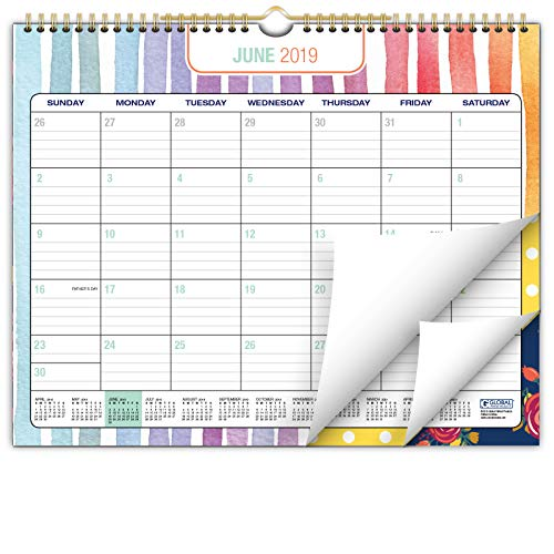 "2019-2020 Wall Calendar Academic Year- 12""x15"" - Colorful, Vibrant, Fun and Fashionable Monthly Calendar"