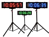 EU 6'' 6digits Double sided Outdoor RGB(7 Colors) LED Race timer for Runing Events Countdown/up stopwatch support IOS and Android