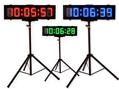 EU 6 Inch 6 Digits Double-Sided Outdoor RGB(7 Colors) Led Race Timer Running Events APP(RGB)