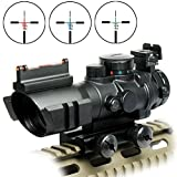 Best Tactical Rifle Scopes - RioRand Rifle Scope Tactical 4x32 Red-Green-Blue Triple Illuminated Review
